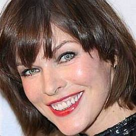 Milla Jovovich dating 2021